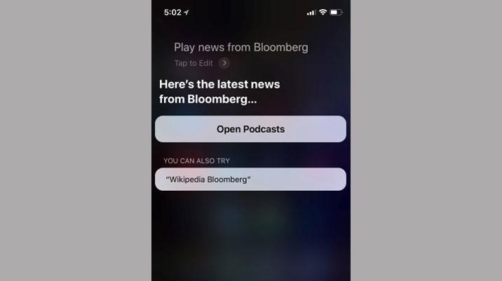 Bloomberg's Audio News Brief comes to Apple devices via Siri