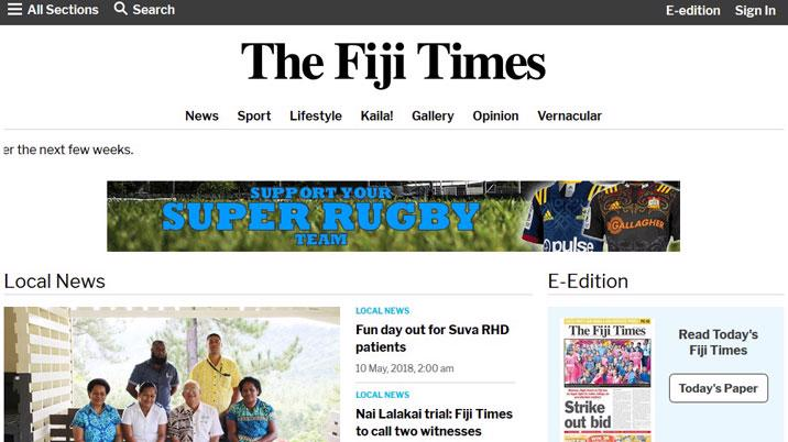 PageSuite & SixPorts collaborate to update Fiji Times' Digital Presence