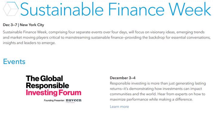 Bloomberg to convene inaugural Sustainable Finance Week in NY