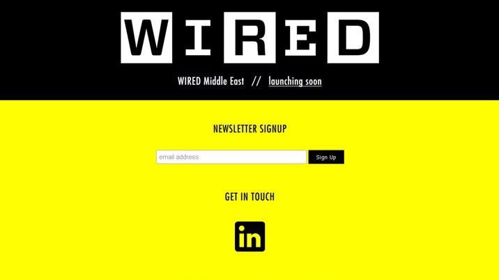 Condé announces launch of Wired Middle East