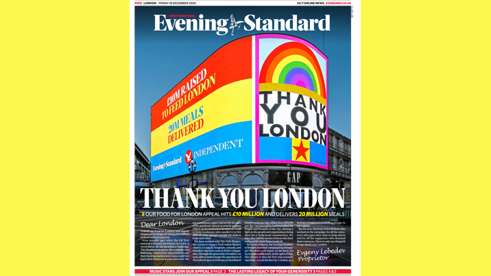 Evening Standard hits £10m Food for London appeal target