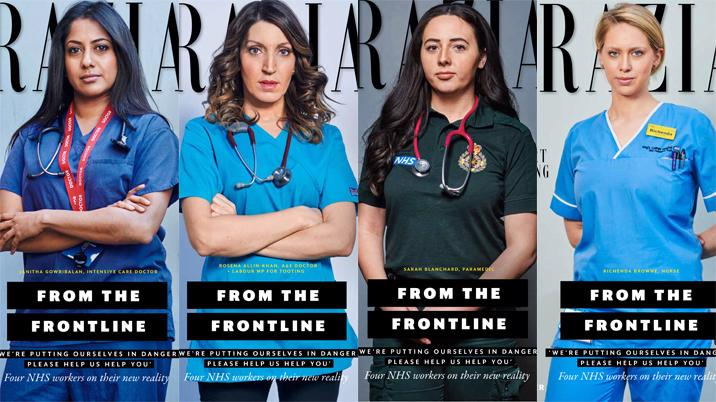 Grazia celebrates NHS staff with four split covers