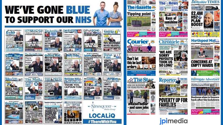 "Newsquest and JPI ""Go Blue"" to support the NHS"