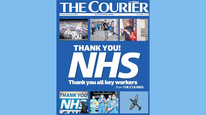 The Courier pays tribute to NHS and key workers in full paper wrap