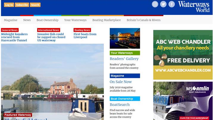 Waterways World launches new website